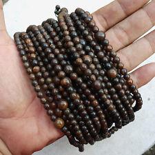 108 Beads Agarwood Mala 6 MM Dark Color Gaharu Buaya Meditation Prayer Aloeswood