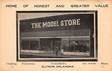 Postcard The Model Store, Clothing, Dry Goods, Shoes in Guymon, Oklahoma~112081