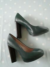 Faith ladies green high heeled leather shoes size 5 never worn