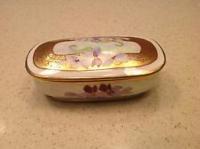 RARE Antique Circa 1890's Limoges France Porcelain Match Safe Box Signed Tolley