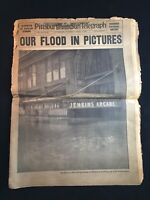 """Vintage 1936 Pittsburgh Sun-Telegraph """"Our Flood in Pictures"""""""