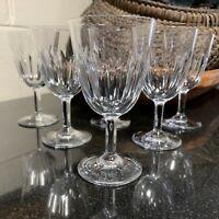 "6 Baccarat Crystal Lorraine 4 3/4"" Port Wine Glasses France - Excellent"
