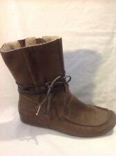 Clarks Brown Ankle Suede Boots Size 6