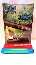25 PKS Juicy Jays Natural Hemp Wraps 2 Per Pack, 2 Torpedo Tube (Like Doob Tube)