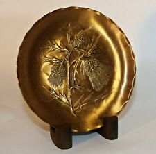 Wendell August Solid Bronze Tree Branch Plant Collector Plate with Stand Vintage