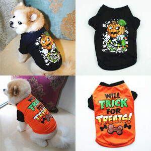 Halloween Pet Clothes Small Dog Cat T Shirt Puppy Clothing Vest Tops Costume