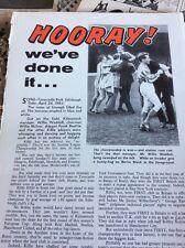 T1-4 Ephemera 1965 Football Article Kilmarnock Win The League
