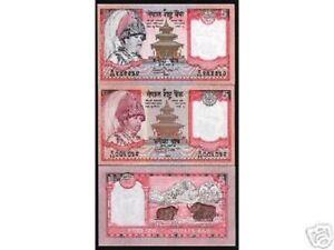 NEPAL 5 RUPEES P-46 53 a 2002 Set Error & Regular 2 Pcs YAK EVEREST UNC BANKNOTE