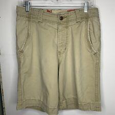 Hollister Mens Shorts Size 30 Tan Summer Khaki Casual