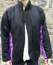 Unworn Vintage Rave Black & Purple Zipped Jacket  Size L  Festival Clothing