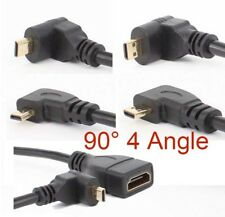 Gold planted HDMI Female to 90 Degree 4X Angled Micro HDMI Male Adapter Cable