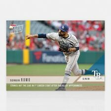 2018 TOPPS NOW #228 STRIKES OUT THE SIDE IN 1ST CAREER START SERGIO ROMO