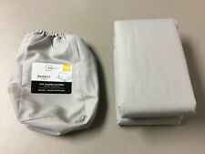 New Mainstays Soft Brushed Microfiber Bedskirt Full/Queen Soft Silver #215U