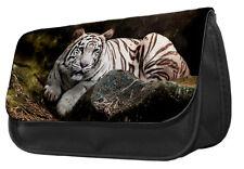 White Tiger Pencil Case / Make up bag 005