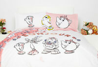Disney Beauty and the Beast Single Double Duvet Cover Set Primark Cushion mug