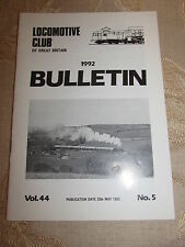 Locomotive Club Of Great Britain Bulletin 20th May 1992 No.5