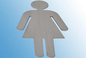WC-Schild Damen Edelstahl Türschilder WC Toilettenschild Badschild