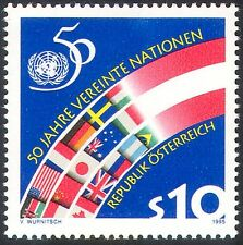 Austria 1995 United Nations/UN/50th Anniversary/Flags/Emblem/Peace 1v (n42003)
