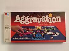 VINTAGE 1989 MILTON BRADLEY AGGRAVATION THE CLASSIC MARBLE RACE GAME #4058