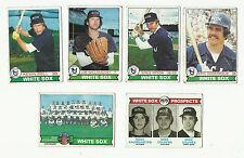 Vintage 1979 tarjetas de béisbol Topps – – MLB Chicago White Sox
