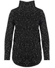 Acrylic Machine Washable Medium Knit Turtleneck, Mock Jumpers & Cardigans for Women