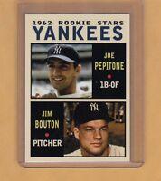 Joe Pepitone & Jim Bouton '62 New York Yankees rookies Pastime series #10