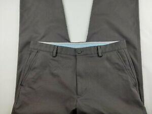 Footjoy FJ Men's Gray Flat Front Performance Golf Pants Size 34 x 29  #2472