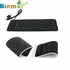 Portable USB Mini Flexible Silicone PC Keyboard Wired Foldable Water Resistant F