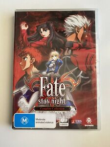 Fate Stay Night DVD Complete Collection All 24 Episodes Region 4