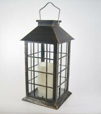 Outdoor Solar Lantern with LED Candle Hanging or Tabletop Decor