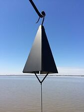 "12"" Large Black Wrought Iron Metal Buoy Bell Wind Chime Handmade in USA"