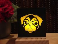 Pug LED Flameless Candle Luminary Gift