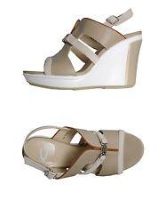 NEW Alberto Guardiani Italia Clio platform wedge leather sandals 8 B 38 $295