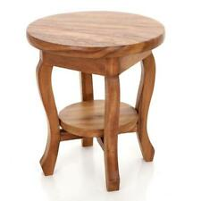 Round Side Table/Solid Acacia Wood/Lamp Table/Wine Table/Waxed/51x44x44