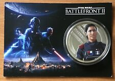 STAR WARS BATTLEFRONT 2,LARGE SILVER PLATED COMMEMORATIVE COIN.45.8 GR,50 MM DIA
