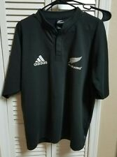 Adidas Official New Zealand All Blacks Embroidered Rugby Jersey Shirt M medium