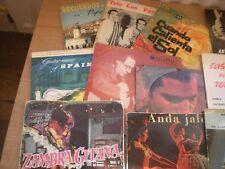 """Collection de 33 7"""" Records en boîte, guitare espagnole, Ombres, CLIFF RICHARD et M"""