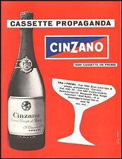 PUBBLICITA' 1956 CINZANO VINO SPUMANTE RISERVA PRINCIPE PIEMONTE PREMI NICO EDEL