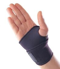 Adjustable Black Neoprene Palm Wrist Strap Hand Wrap Support Brace Sprain Gym UK