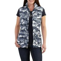 Carhartt El Paso Utility Camo Blue Vest for Women Size Medium NWT Great Quality