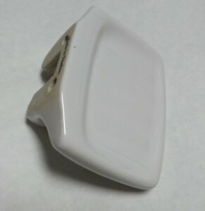 Proplus White Porcelain Soap Dish Null with Grooves 552220 - 4 Inch Across