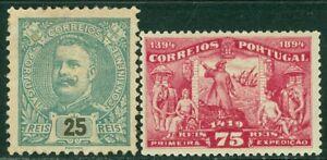 EDW1949SELL : PORTUGAL 1894-95 Scott #103 VF, Mint OG Also #116 Mint Cat $117.00