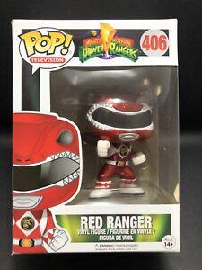 Funko Pop Vinyl RED RANGER [METALLIC EXCLUSIVE] #406 POWER RANGERS in Protector