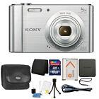 Sony Cyber-shot DSC-W800 20.1MP Digital Camera 5x Zoom Silver + 16GB Accessories