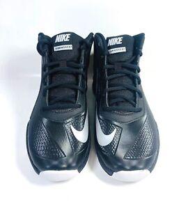 Nike Boys Team Hustle D7 Running Shoes - Black/Metallic Silver White - Size 4
