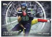 2015 Topps Football Fantasy Focus #FF JG Jimmy Graham Seattle Seahawks