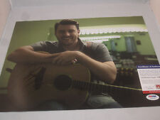 CHRIS YOUNG SIGNED 11X14 PHOTO PSA/DNA U68992 NEON YOU TOMORROW COUNTRY STAR
