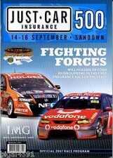 SANDOWN 500 2007 RACE PROGRAM  LOWNDES JOHNSON TANDER  NEW