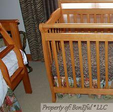 BonEful NEW RTS Baby Nursery MINI CRIB Bed SHEET Fitted Pack N Play Animal Zebra