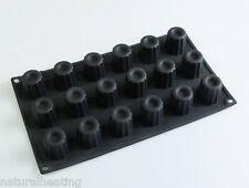 18 estriados Mini Canele / cannele Bakeware del silicón Molde Molde del chocolate Bordelais